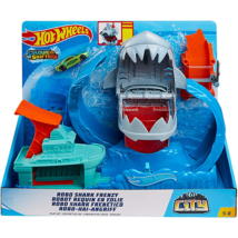 Hot Wheels robot cápa őrjöngés pályaszett