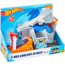 Hot Wheels: T-Rex grocery attack pályaszett