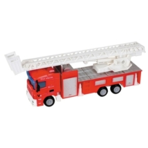 City Truck: Létrás tűzoltóautó modell 1/64