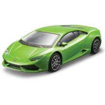Lamborghini Huracan zöld fém autómodell 1/43