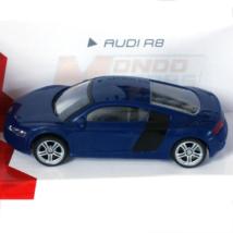 Super Fast Road: Audi R8 kék fém autómodell 1/43
