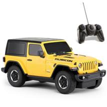 RC Jeep Wrangler Rubicon sárga távirányítós autó