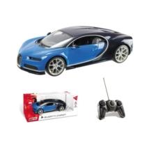 RC Bugatti Chiron távirányítós autó 1/14 fekete-kék