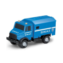 SWAT taktikai furgon kék színben 1/64