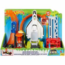 Hot Wheels City Szuper rakéta kilövő pálya kisautóval – Mattel