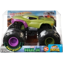Hot Wheels: Monster truck marvel Hulk fém autómodell 1/24