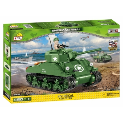 COBI 2464A - II WW M4A1 SHERMAN D-day