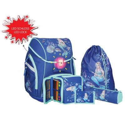 Spirit: Sellő kék 5 db-os iskolatáska szett kiegészítőkkel