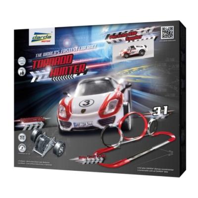 Darda: Tornado Hunter 3 az 1-ben pályaszett Porsche 918 Spyder hátrahúzható pályaautóval
