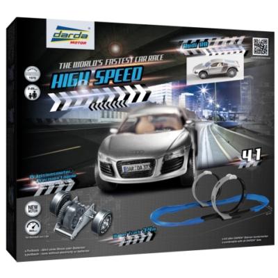 Darda: High Speed 3 az 1-ben pályaszett 1 db Audi R8 hátrahúzható pályaautóval