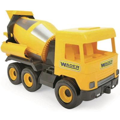 Middle Truck: Betonkeverő autó 43 cm sárga – Wader