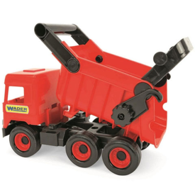 Middle Truck: Billentős dömper 43cm piros - Wader