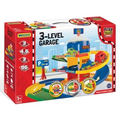 Play Tracks: 3 szintes garázs 2 db kisautóval – Wader