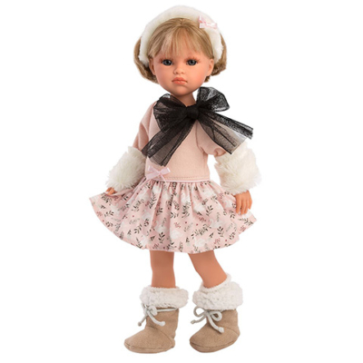Llorens: Daniela 37cm-es baba fekete masnival