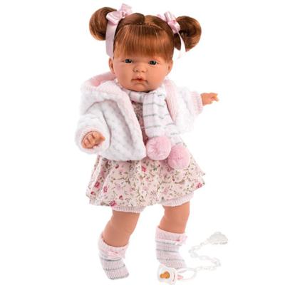 Llorens: Kate 38cm-es síró baba virágos ruhában