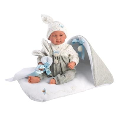 Llorens: Tino újszülött síró baba fekhellyel 44 cm