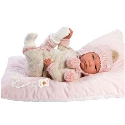 Llorens: Reborn limitált kiadású élethű újszülött baba bojtos ruhával 42cm-es