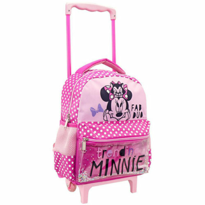 Minnie egér Fab Duo gurulós ovis hátizsák 27x10x31cm