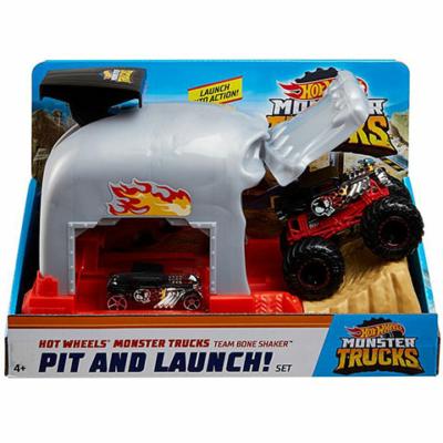 Hot Wheels: Monster Truck Bone Shaker kilövő szett