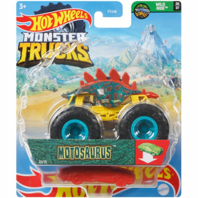 Hot Wheels: Monster Truck Motosaurus járgány roncsautóval