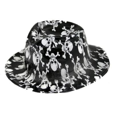 Műanyag halálfejes kalap