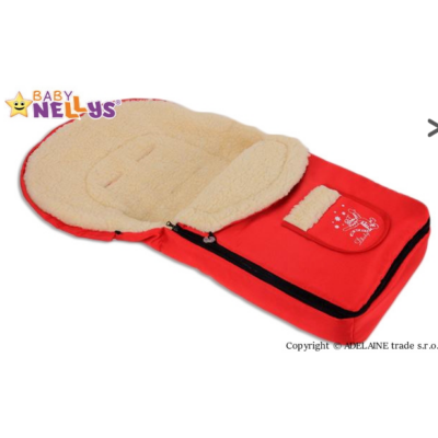 Multifunkciós gyapjú bundazsák 4in1 - piros