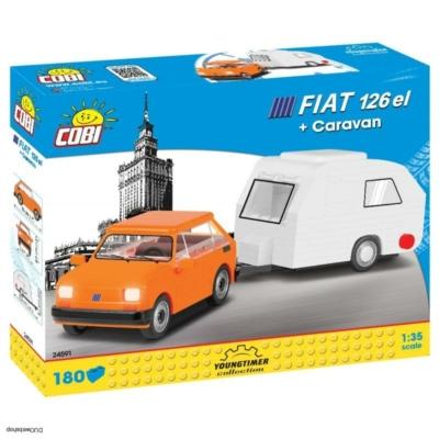 COBI 24591 - Polski Fiat 126el lakókocsival 1:35
