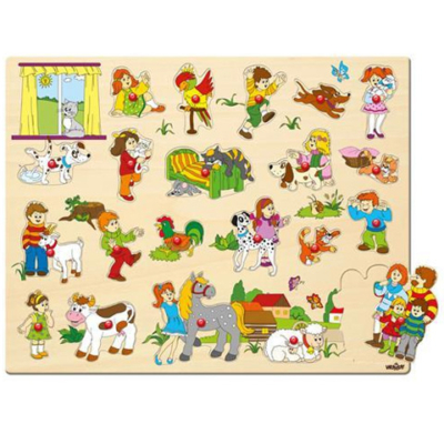 Nagy fa forma-puzzle fogantyúval - Woodyland
