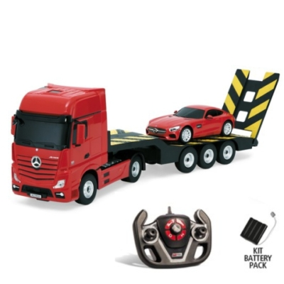 RC Mercedes Actros kamion és Mercedes AMG GT sportkocsi távirányítós szett 1/24