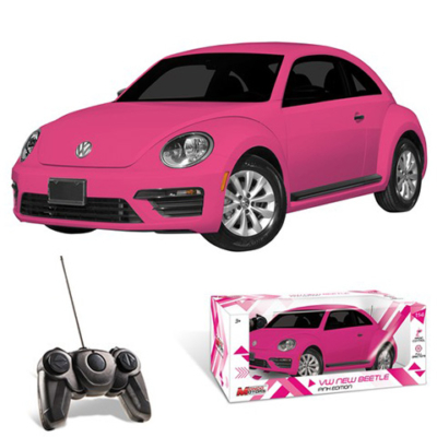Volkswagen Beetle távirányítós autó 1:14 pink színben