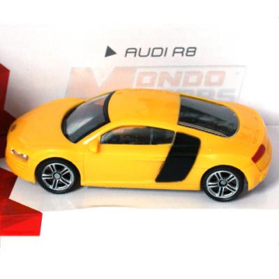 Super Fast Road: Audi R8 sárga fém autómodell 1/43