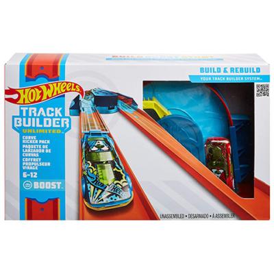 Hot Wheels: Track builder álítható kanyarpályaszett kisautóval