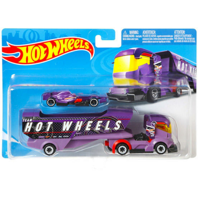 Hot Wheels: Big rig heat lila szállító