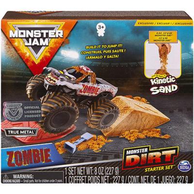 Monster Jam kinetic sand zombie játékszett  homokgyurmával